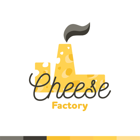 Cheese factory design, vector illustration