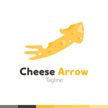 Cheese arrow design, vector illustration