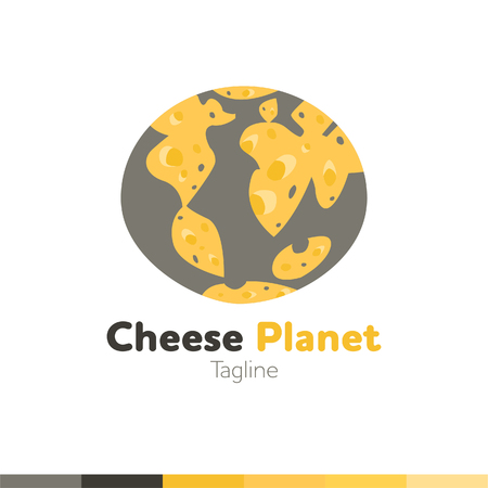 Cheese planet design, vector illustration
