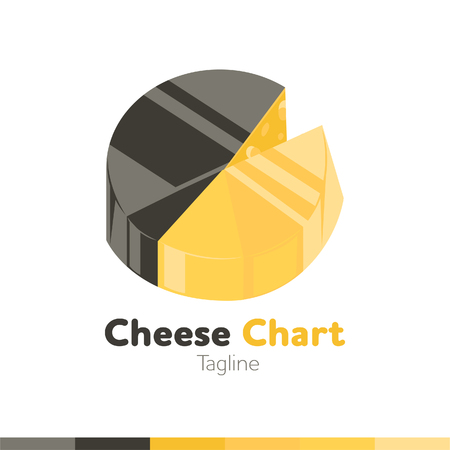 Cheese chart design, vector illustration