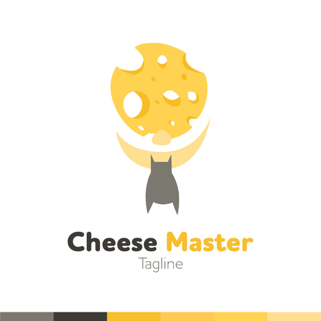 Cheese Master design, vector illustration