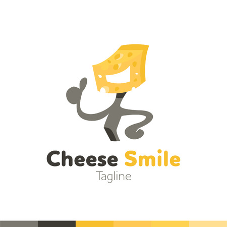 Cheese Smile and thumbs up design, vector illustration