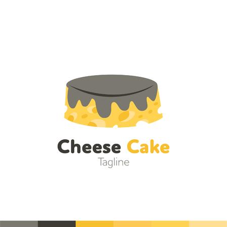 Cheese Cake Logo, Restaurant logo, food and cooking logo, vector logo template.