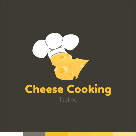 Cheese cooking Logo, Restaurant logo, food and cooking logo, vector logo template.