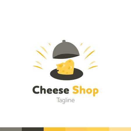 Cheese shop Logo, Restaurant logo, food and cooking logo, vector logo template.
