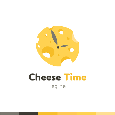 Cheese time Logo, Restaurant logo, food and cooking logo, vector logo template.