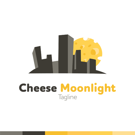 Cheese Food Logo, Restaurant logo, food and cooking logo, vector logo template.