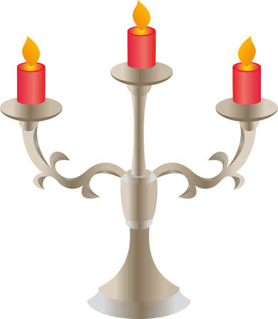 ol: Candlestick with candles.