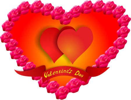 Beautiful and cute greeting card's day to all loving and lovers - the day of Saint Valentine.