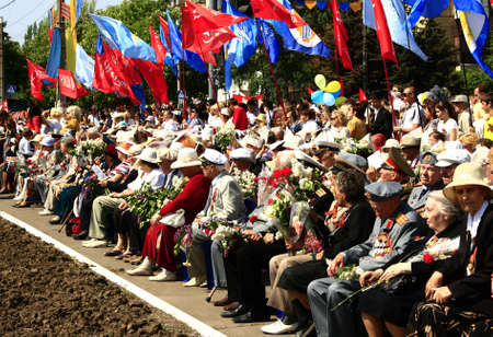 MARIUPOL, UKRAINE - MAY 9. Celebrating the victory of May 9, 2012 in   Mariupol, Ukraine. Stock Photo - 13685824