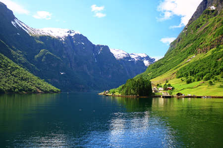 Norwegian fjord  photo