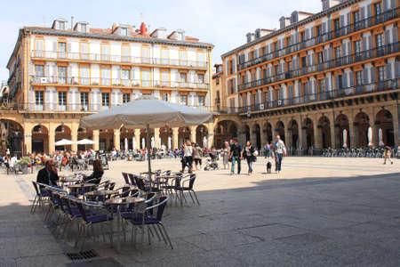 san sebastian: Constitution Square, May 5, 2013 in San Sebastian, Spain