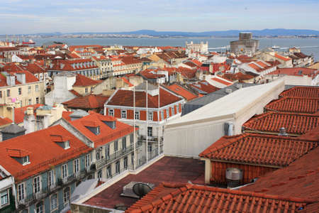 Portugal  Lovely view of the historic architecture of Lisbon  photo