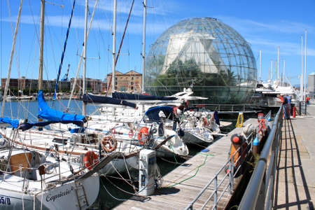 reproduced: GENOA , ITALY  Biosphere - glass sphere with a diameter of 20 meters, which reproduced the ecosystem of the Amazon forest