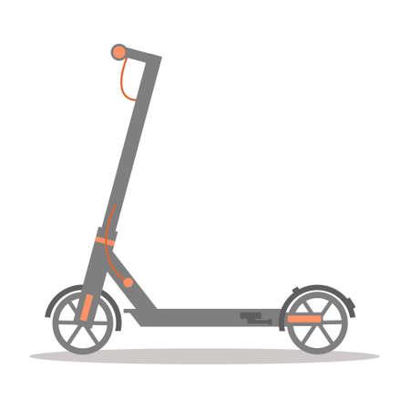 Electric scooter, urban transport. Ecological transportation. Flat vector illustration.