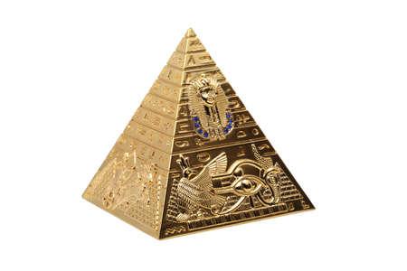 pyramid egypt: Egyptian Pyramid on a white background
