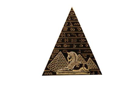 Egyptian Pyramid on a white background