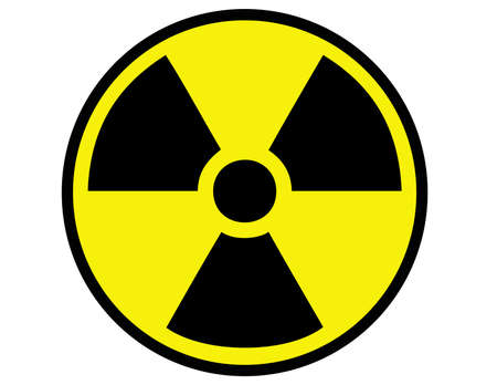 Sign of danger of radiation and radioactive contamination