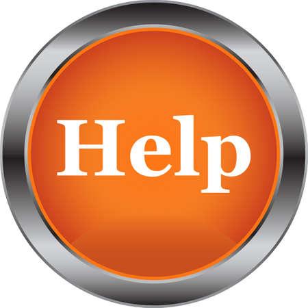 Button Help Vector