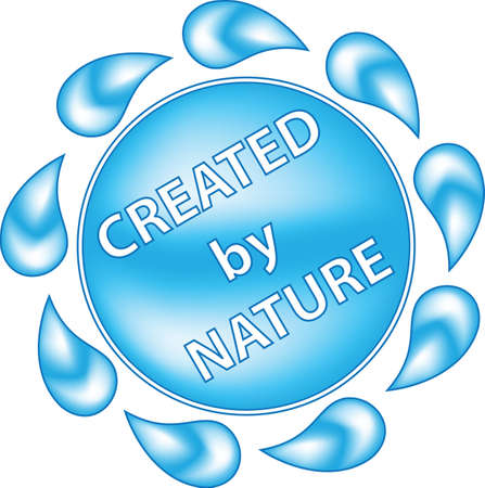 Label Created by Nature Vector