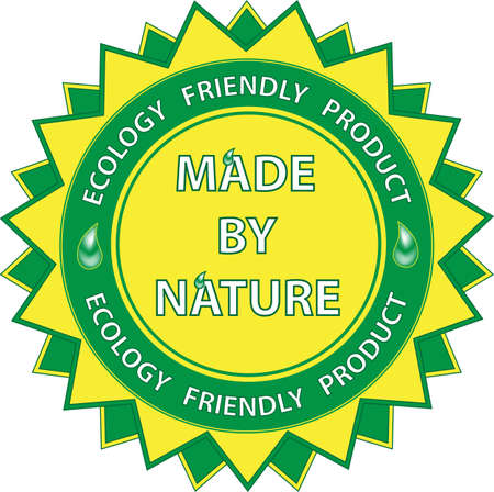 best security: Label Made By Nature Illustration