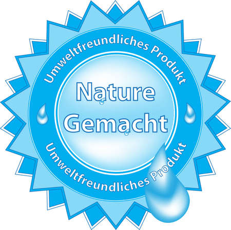 Label Created By Nature (German)  Illustration