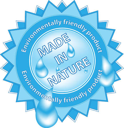 Label Made in Nature Vector