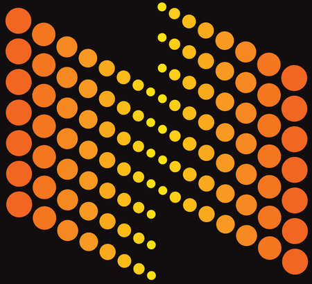 Abstract background (logo) orange and black