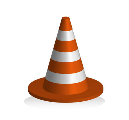 Traffic warning sign in the shape of a cone