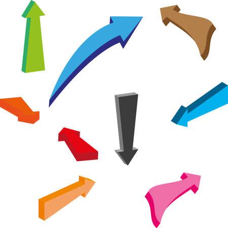 flecha direccion: Flechas Vectores