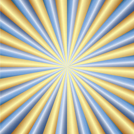 Abstraction golden & blue rays Illustration