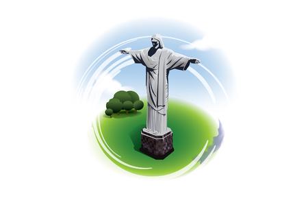 janeiro: Christ statue rio de janeiro brazil