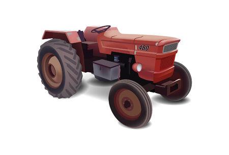 old tractor: Oude Tractor Stock Illustratie