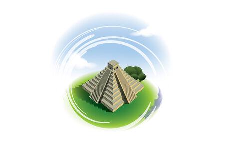chichen itza: El Castillo Pyramid Chichen Itza