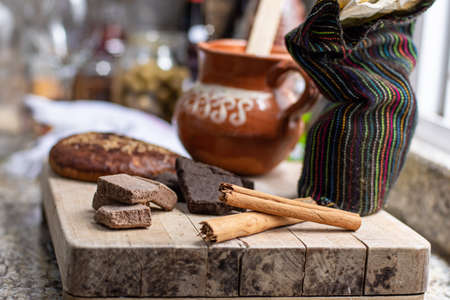 Traditional mexican chocolate and spices