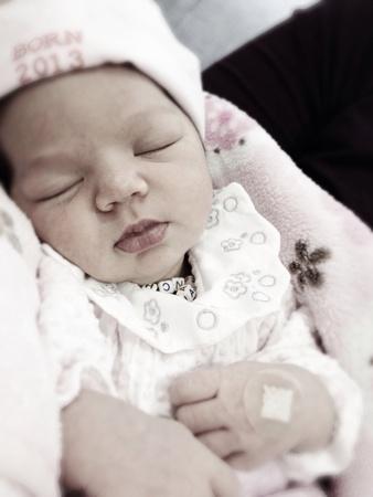 preety: Babe sleeping Stock Photo
