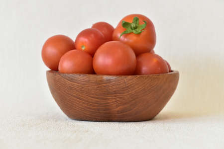 Red tomatoes in a bowl