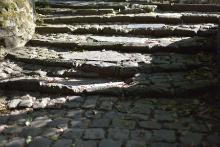 Steps from pavers Stock Photo