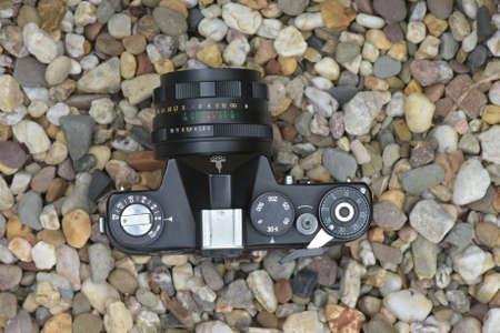 Camera on the rocks
