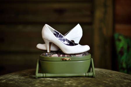 White shoes for the bride