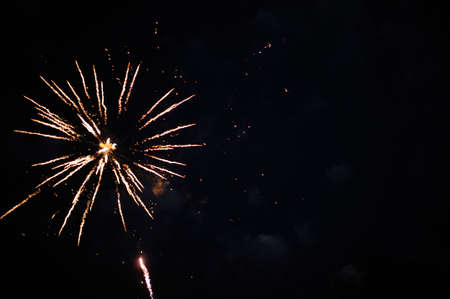 Fireworks in the night sky Stock Photo