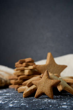 Gingerbread cookies with star shape