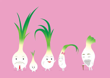 cute onion character design 일러스트