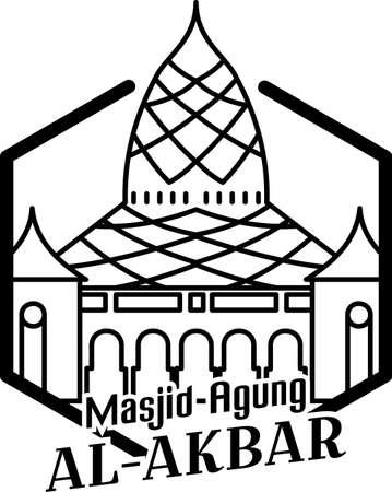 Illustration of Surabaya Grand Mosque