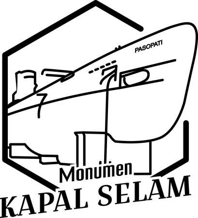 illustration of the Surabaya submarine monument