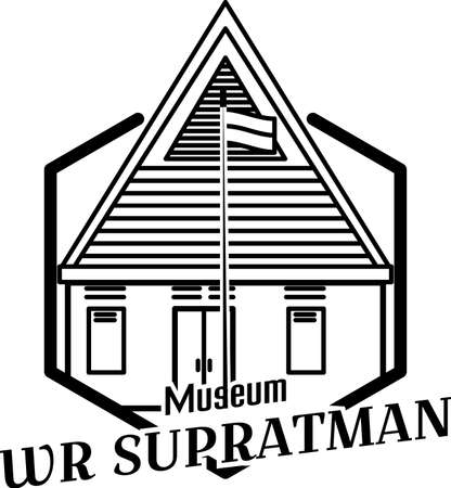 Illustration of WR Supratman museum, Surabaya