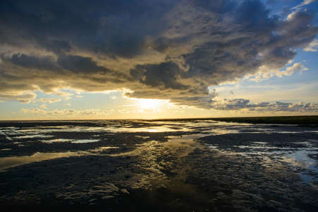 Low tide at St. Peter-Ording Germany Stock Photo