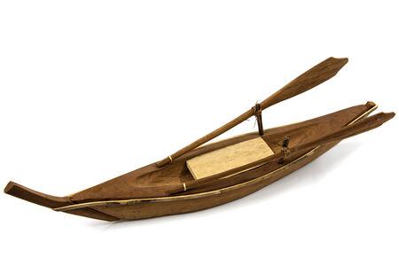 retained: Hermosa modelo de barco de madera debe mantenerse y preservarse Foto de archivo
