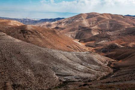 Arenas del desierto de Judea (Israel), desde una colina cerca de Beit El