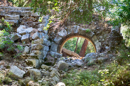 robbed: the entrance to the ancient theater of the ancient city of Olympos